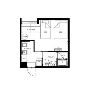 The floor plan of GLANZ KEI Gion Shinmonzen