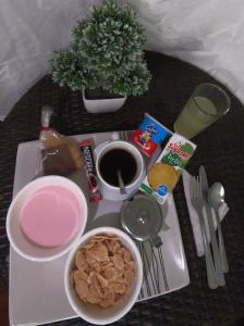 Opciones de desayuno disponibles en Santiago Apartamentos Centro