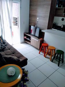 A seating area at Mari Haus