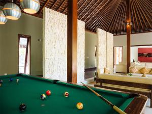 A billiards table at The Anandita