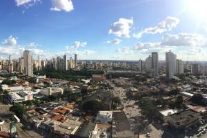A bird's-eye view of Flat mobiliado perto do Goiania Shopping, DNA, ótimo.