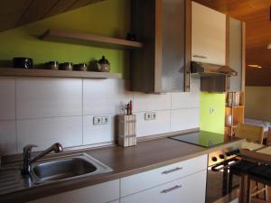 Küche/Küchenzeile in der Unterkunft Appartement Penzkofer