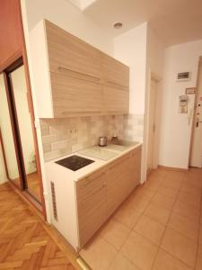 A kitchen or kitchenette at Paprika Apartment In City Center