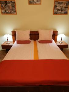 A bed or beds in a room at Paprika Apartment In City Center