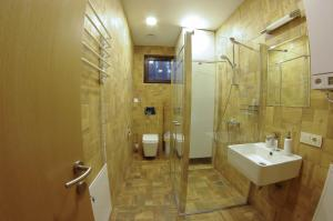 Vonios kambarys apgyvendinimo įstaigoje Žvėrinčiaus vila