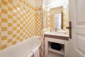 Salle de bains dans l'établissement Résidence Pierre & Vacances Cannes Villa Francia
