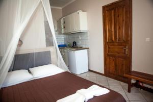 Cuisine ou kitchenette dans l'établissement Eleana apartments and studios