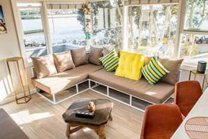 A seating area at S. MISSION BEACH, OCEAN, BAY, SUNRISE & SET Views!