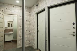 A bathroom at Объездная дорога д.1