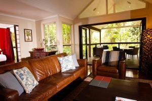 A seating area at Songbirds Rainforest Retreat