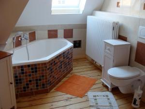 Ein Badezimmer in der Unterkunft Asbach Appartements Weimar