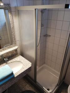 Ein Badezimmer in der Unterkunft Ferienwohnung Toferer