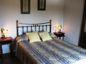 Cama o camas de una habitación en Huerta Nueva