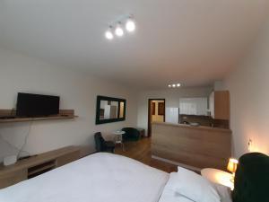 Posteľ alebo postele v izbe v ubytovaní Entrez Apartments 5 - City center with small garden