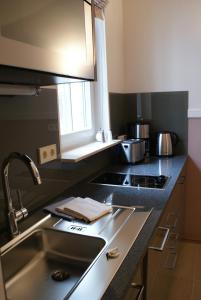 A kitchen or kitchenette at Aparthotel Am Schloss