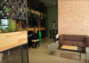 A seating area at Eval Hotel