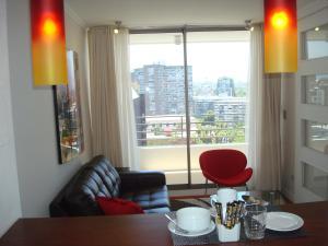 Zona de estar de Brizen Apartments - Manuel Montt