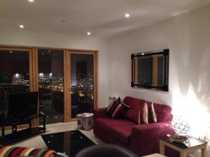 A seating area at Suite 16 Glasgow