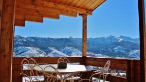 Een algemene foto van de bergen of uitzicht op de bergen vanuit het chalet