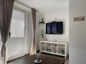 Télévision ou salle de divertissement dans l'établissement Apartments Vila Cvetka Bled