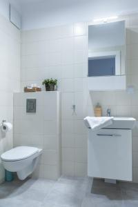 A bathroom at Golden Apartments