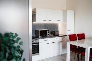 Kuchyňa alebo kuchynka v ubytovaní AH Radnica