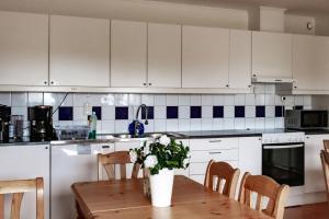 A kitchen or kitchenette at Rödlix Vandrarhem & Camping