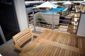 A balcony or terrace at Broadwater Mariner Resort
