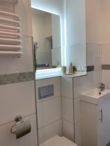 A bathroom at Apartamenty Zieleniec-Julia 3
