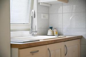 Kuhinja oz. manjša kuhinja v nastanitvi Apartma pri Bizjaku
