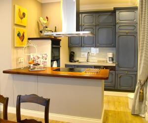 Küche/Küchenzeile in der Unterkunft Ferienwohnung Zauberhaft