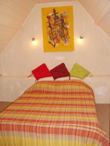 Un ou plusieurs lits dans un hébergement de l'établissement Gîte de La Porte du Parc