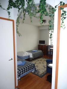 Säng eller sängar i ett rum på Studio Apartment Tampere