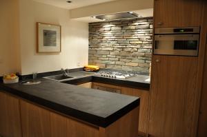 Küche/Küchenzeile in der Unterkunft Akwa Levron