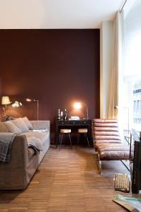 Coin salon dans l'établissement Apartment Nyhuset