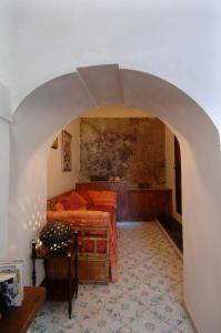 Ruang duduk di Casa Bouganville