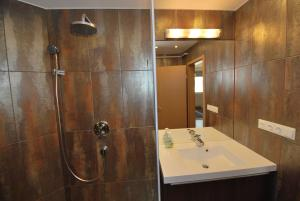 Vannas istaba naktsmītnē Arpad Bridge Apartments