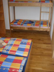 A bunk bed or bunk beds in a room at U Tří smrků