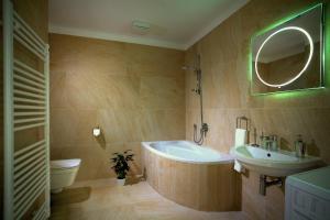 A bathroom at Rybna 9 Apartments