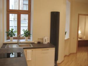 A kitchen or kitchenette at Riga Boutique Apartments