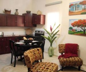 A kitchen or kitchenette at Fortaleza Suites Old San Juan