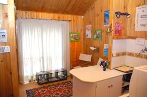 A bathroom at Cabañas Nordicas