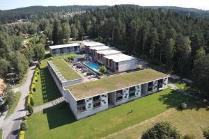Letecký snímek ubytování Apartmány Doky Holiday
