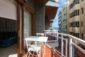 En balkon eller terrasse på Beach Apartment