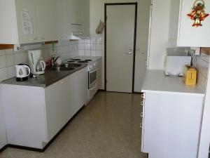 Кухня или мини-кухня в Leinon Apartments