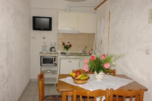 A kitchen or kitchenette at Prasoudopetra