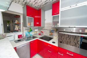 A kitchen or kitchenette at Apartment Adi Center (free parking)