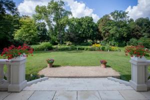 Ogród w obiekcie Herrenhaus Samow