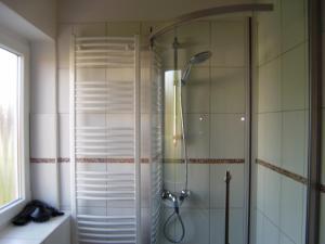 Ein Badezimmer in der Unterkunft Landhaus Lüneburger Heide