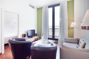 אזור ישיבה ב-Inside Barcelona Apartments Mercat